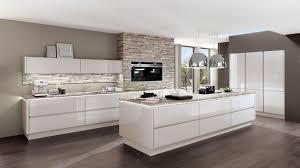 cuisine gris laqué cuisine taupe et bois design la inspirations avec cuisine gris