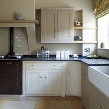 a kitchen a kitchen painted in savage ground no 213 by farrow ball
