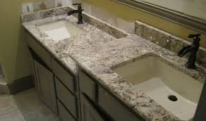 granite countertop build kitchen cabinet copper penny backsplash