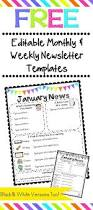 free monthly newsletters templates cleaning and organization