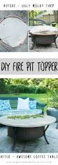 how to make a fire pit topper