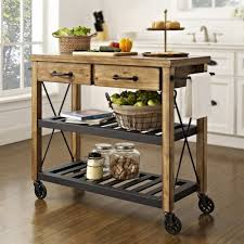 Kitchen Carts On Wheels by Kitchen Island On Wheels Catskill Butcher Block Island With Drop