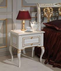 French Style Furniture by Classic Rubens 18th Century French Style Bedroom Night Table