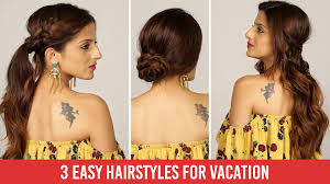 hair styles for vacation 3 quick easy heatless everyday holiday hairstyles tutorial