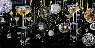 Decoration For New Years Eve Party by Black Gold U0026 Silver New Year U0027s Eve Hanging Decorations Party City