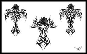 tribal tattoos with roses designs cross tattoos designs and ideas page 39