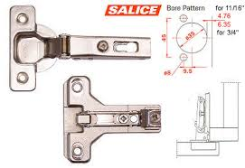kitchen cabinet door hinge template salice concealed hinge and plate 120 frame 11 16 3 4 overlay on