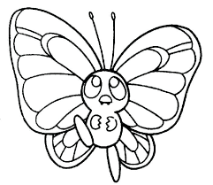 Butterfly Coloring Pages Cute Butterfly Line Drawing Small Small Coloring Pages