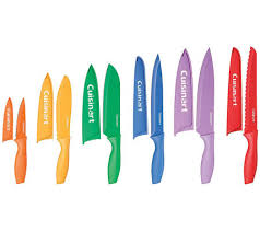 colored kitchen knives cuisinart advantage 12 pc color knife set withblade guards page