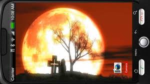 halloween mystery red sky moon deluxe hd edition 3d live wallpaper