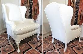white wing chair slipcover wing chair slipcover ikea wing chair slipcover white box cushion