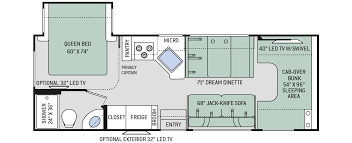 class a rv floor plans floor plans chateau 26b