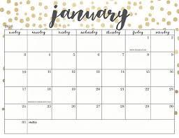 printable calendars free cute printable calendars 2018 monthly free january 2018 calendar