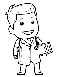 letter d is for doctor coloring page inside coloring page eson me