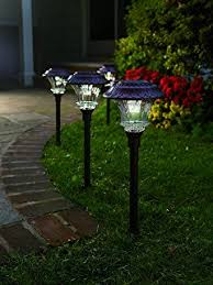Landscaping Lights Led by Moonrays 91754 Richmond Solar Led 25x Metal Path Warm White Light