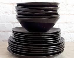 stoneware dinnerware etsy