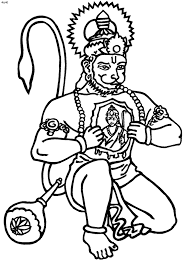 hanuman coloring pages hanuman jayanti coloring pages kids website