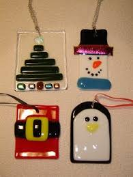 fused glass purse u0026 matching pump christmas ornaments by