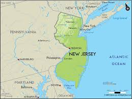 New York County Map Map Of New Jersey And New York New York Map