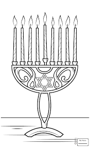 menorah for kids coloring pages for kids eight brached menorah with burning candles