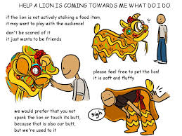 lion dancer book what to do when a lion is coming toward you during a lion