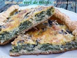 cuisiner le vert des blettes quiche au vert de blettes et saumon recette ptitchef