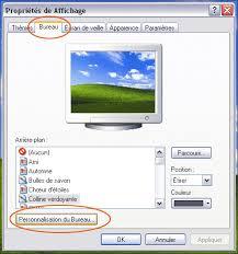 personnalisation du bureau icones de bureau et dossiers seven vista xp
