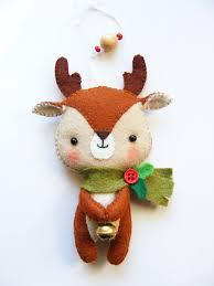 felt pdf pattern cute little reindeer felt christmas tree