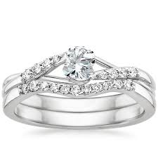weedding ring 18k white gold chamise diamond bridal set brilliant earth