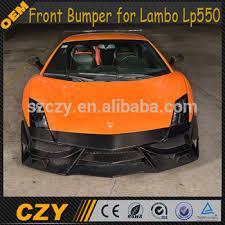 lamborghini gallardo front view replica front position carbon fiber gallardo bumper for