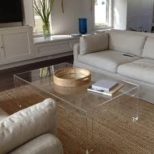 Acrylic Side Table Ikea Square Lucite Coffee Table Best Gallery Of Tables Furniture