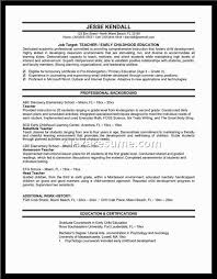 Resume For Montessori Teacher Teaching Resume Examples Picture Of A For Elementary