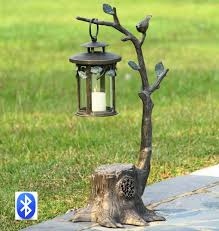 33829 bird on branch lantern spi bluetooth speaker spi home