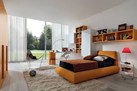 White Soft Rug Guest Bedroom Ideas Wide Modern Drawers Modern Night Lamp Round