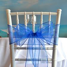 chair sash organza chair sash royal blue faraway event rentals koh samui