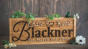wedding gift signs personalized family name signs wedding gift aftcra