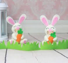 Rabbit Home Decor Felt Bunny Rabbit Ornament Nursery Decorations Bunny Plush