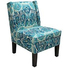Turquoise Accent Chair This Classic Alessandra Teal Wingback Accent Chair Promises A Pop