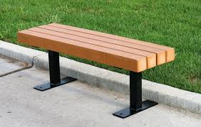 plastic outdoor backless benches bench decoration