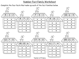 number fact families number fact families powerpoint presentation and worksheets by