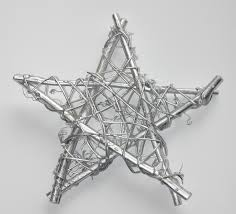 free image of silver star christmas tree topper decoration