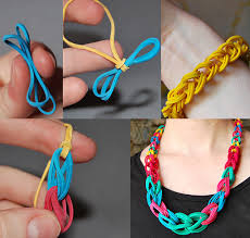 make rubber bracelet images How to make rubber band necklace bracelet diy crafts jpg