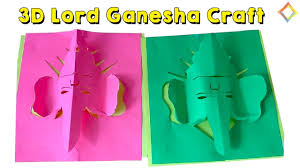 ganesha 3d craft very easily step by step for kids youtube