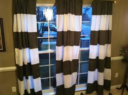 Brown And White Striped Curtains Interior Navy Striped Curtains Affordable Modern Home Decor