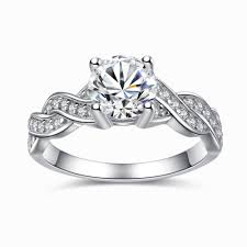 infinity engagement rings sterling silver cubic zirconia 1 28ct cut infinity s
