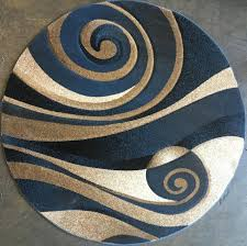 Sculptured Rugs And Carpets Amazon Com Modern Round Area Rug Blue Sculpture Design 258