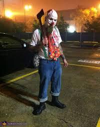 evil killer clowns couple u0027s halloween costume photo 4 5