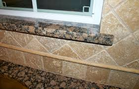 Chiaro Tile Backsplash by Granite Window Sill With Travertine Tile Backsplash House U0026 Yard