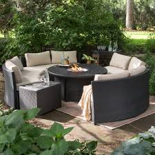 patio furniture with fire pit table top 75 out of this world natural gas fire pit patio seating sets