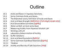 Lightly Definition Chapter Ten Chapter 10 Lecture Acids And Bases Ppt Download
